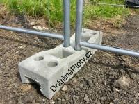 Mobilní panel - betonová patka