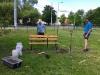 Montáž zahradní lavičky - psí výběh Pardubice