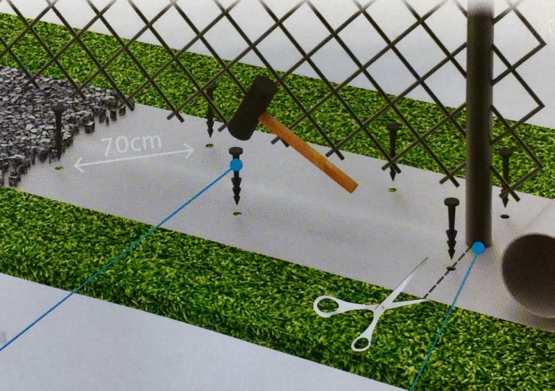 Pás proti prorůstání trávy pod plot