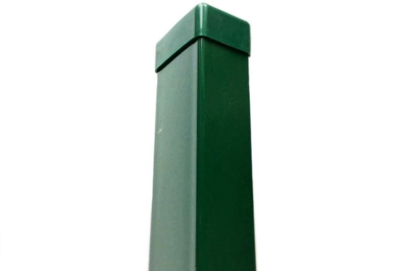 Poplastovaný sloupek 60x40 pro panelový plot s průběžnou objímkou